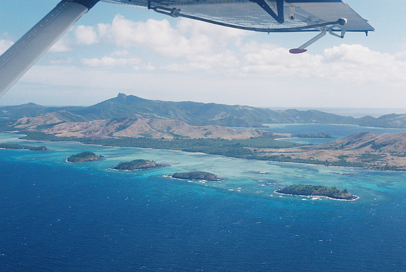 fiji islands from sea plane